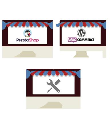 Diseño de Tiendas online en Bilbao bajo plataforma Prestashop, Woocommerce para Wordpress o a medida
